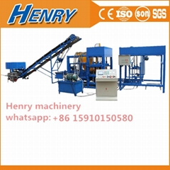 Qt4-25 Fully Automatic Cocnrete Block Making Machine Pavers Brick Machine Line