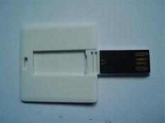 卡片U盤方形設計雙面彩印時尚禮品U盤工廠批發定製