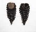 silk closure human hair silk base