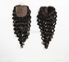 silk closure human hair silk base