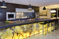 BACKLIT ONYX KITCHEN COUNTERTOPS