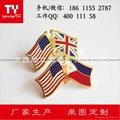 熱銷定製兩面旗幟徽章