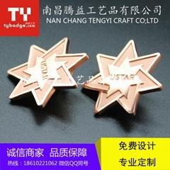 定製公司企業標誌LOGO胸牌徽