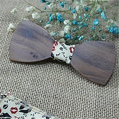 custom Logo wooden bow tie