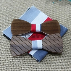 Wood craft wooden bow  ties for men