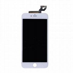 For iphone 6s plus lcd screen digitizer assembly with frame and small parts. whi