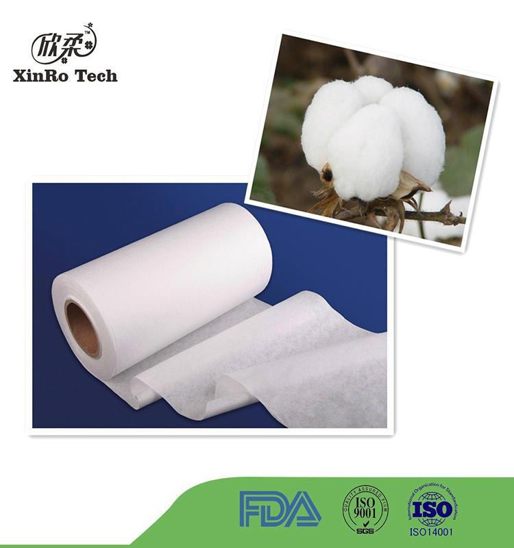 100% Cotton Spunlace Nonwoven Fabric for Wet Wipe Spunlace Nonwoven Wet Tissue 4