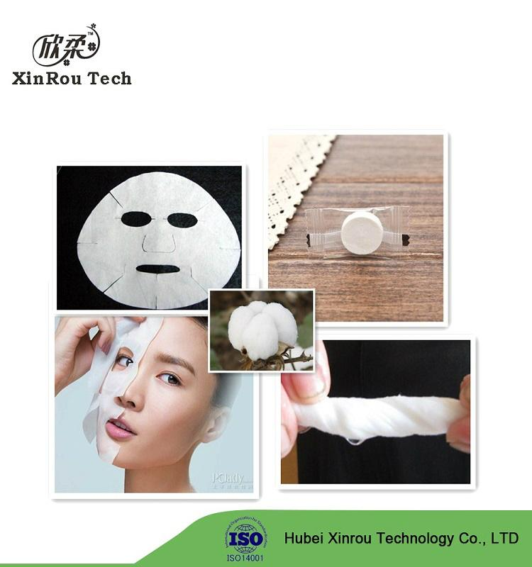 China Supplier Cotton Spunlace Non Woven Face Mask Raw Material 1