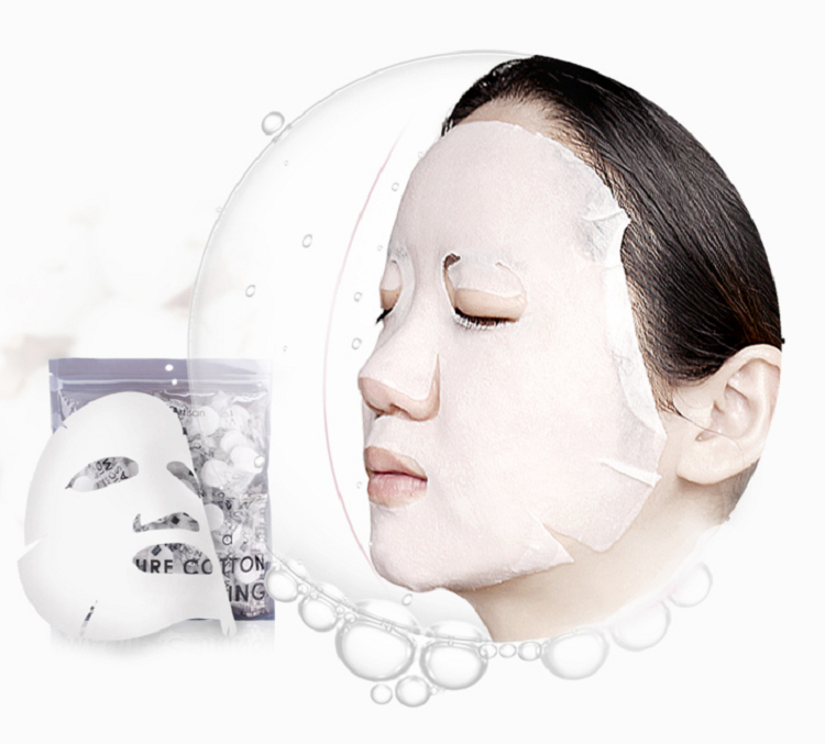 China Supplier Cotton Spunlace Non Woven Face Mask Raw Material 4