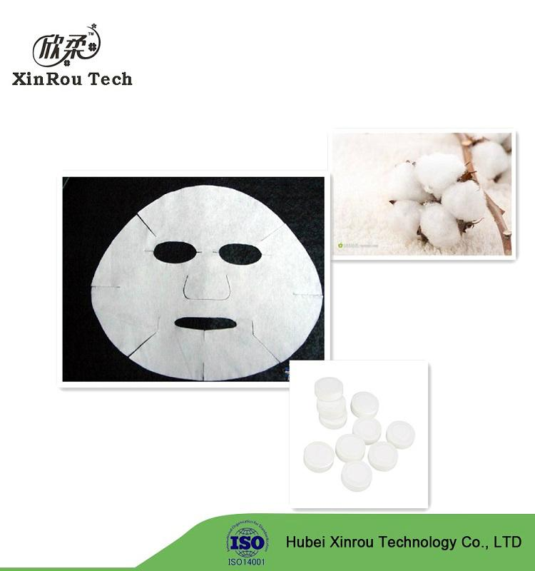 China Supplier Cotton Spunlace Non Woven Face Mask Raw Material 5