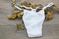 Hotel Sauna Disposable Cotton Fabrics Thong Underwear Nonwoven