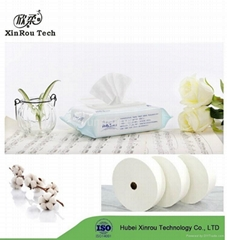 30-100gsm Pure Cotton Spunlace Wet Wipes Nonwoven Roll