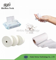 Super Soft Organic Cotton Material Spunlace Nonwoven for Wet wipe Making