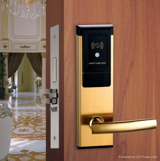High Quality SUS304 Hotel RF Card Lock with LED and Sound 1