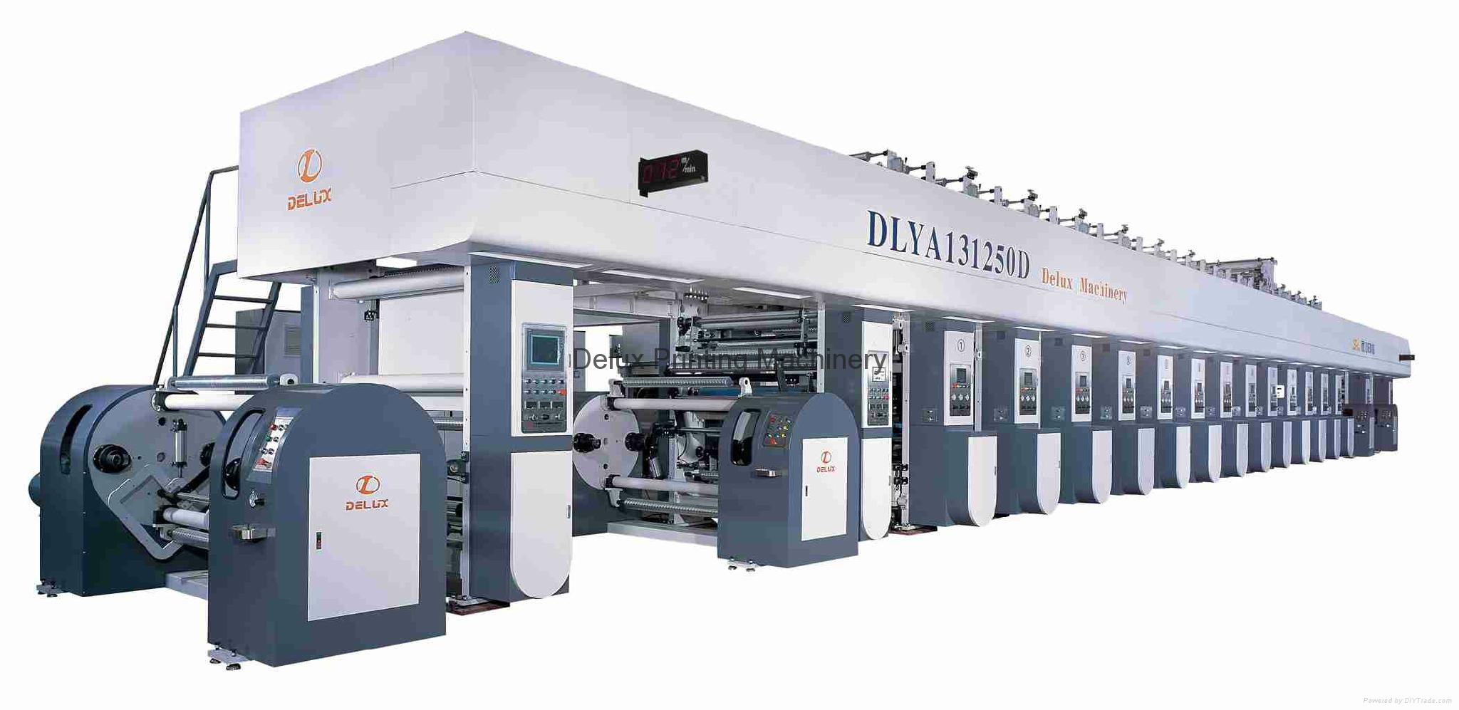 High Speed Electrical Shaft Rotogravure Printing Machine 1