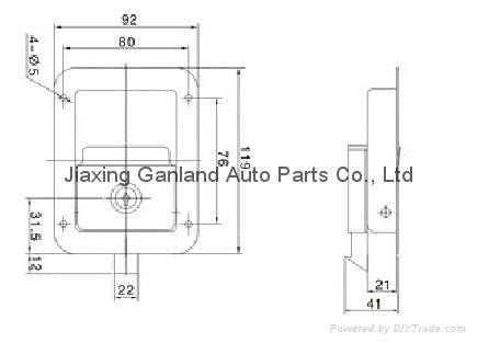 Stainless Steel Truck Toolbox Right Hand Latch Locks Key Locking 4