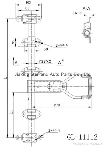 Brand Van Body Parts Recessed Truck Door handle Lock 4