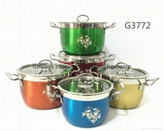 Chaoan Cookware 6PCS Stainless Steel Cooking Pot Set with Capsuled Bottom