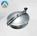 Sanitary stainless steel manhole cover