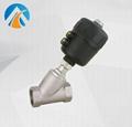 Sanitary stainless steel angle seat valve