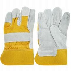 cowhide split leather safety gloves