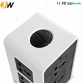 Factory direct sale smart vertical socket with 2 USB ports 5