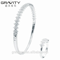 Stylish jewelry latest bangle designs in silver