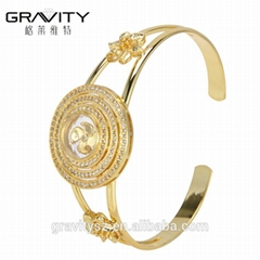 2017 Unique jewelry gift items 18k gold color bangles and bracelets