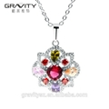 Hot selling products artificial colourful stone 925 silver jewelry set 4