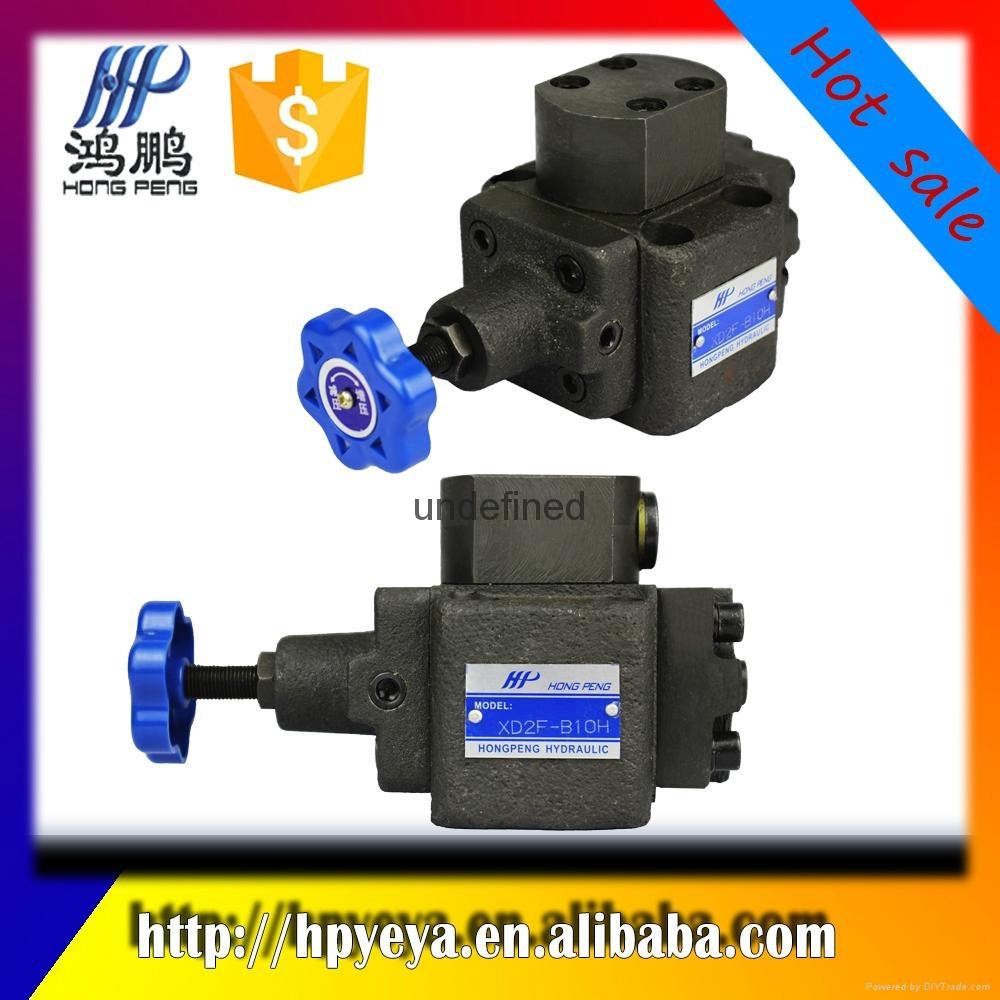 Hydraulic mechanical sequence va  e, XD2F series, hydraulic direct control va  e 2