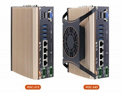 POC-500搭载 AMD Ryzen™ Embedded V1605B/ V1807B超紧凑强固型工控机