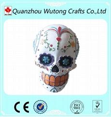 Promotional gift resin skull figure