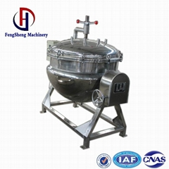 100 liter steam jacketed cooking kettle