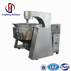 Salad dressing steam jacketed kettle with agitator