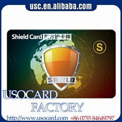 13.56MHZ Cheap price custom design credit card size Rfid blocking card