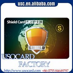 13.56MHZ Cheap price custom design credit card size Rfid blocking card