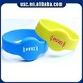 Rfid smart sport bracelet silicone wristband fabric wristband