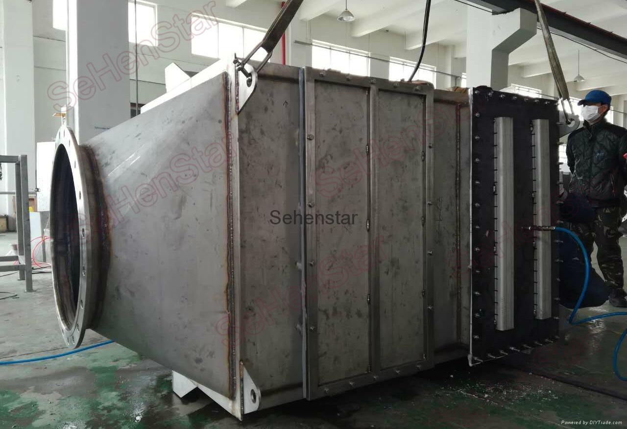 IndustrialAirto WaterHeatExchanger Efficent Laser Welding Embossed Design 3