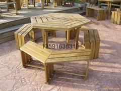 訂製瀋陽碳化木涼亭花架