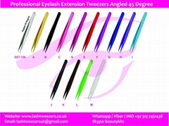 Professional Eyelash Extension Tweezers Fine Points