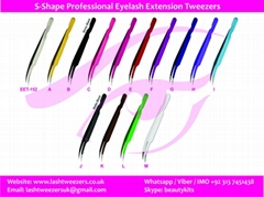S-Shape Professional Eyelash Extension Tweezers