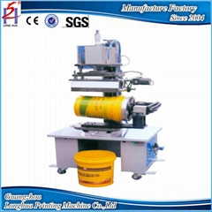 big size round bucket hot foil stamping machine