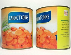 Canned Natural Carrot Coins from Vietnam