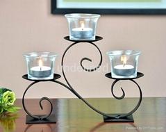 桌面家居裝飾樹枝狀鐵藝燭台
