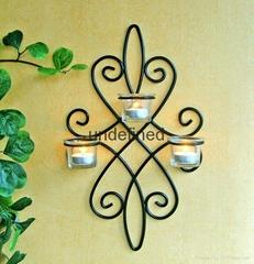 壁挂式铁艺烛台家居装饰 用