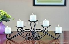 家居装饰树枝状铁艺烛台
