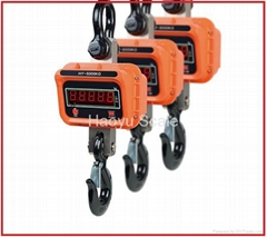 Electronic Hanging Crane Scale Easy Remote Controlling 3T