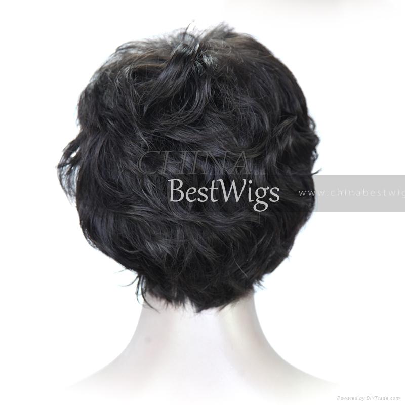short cut all machine made wig 3