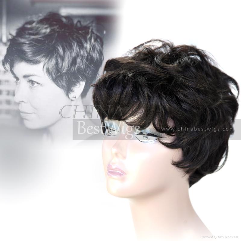 short cut all machine made wig 4