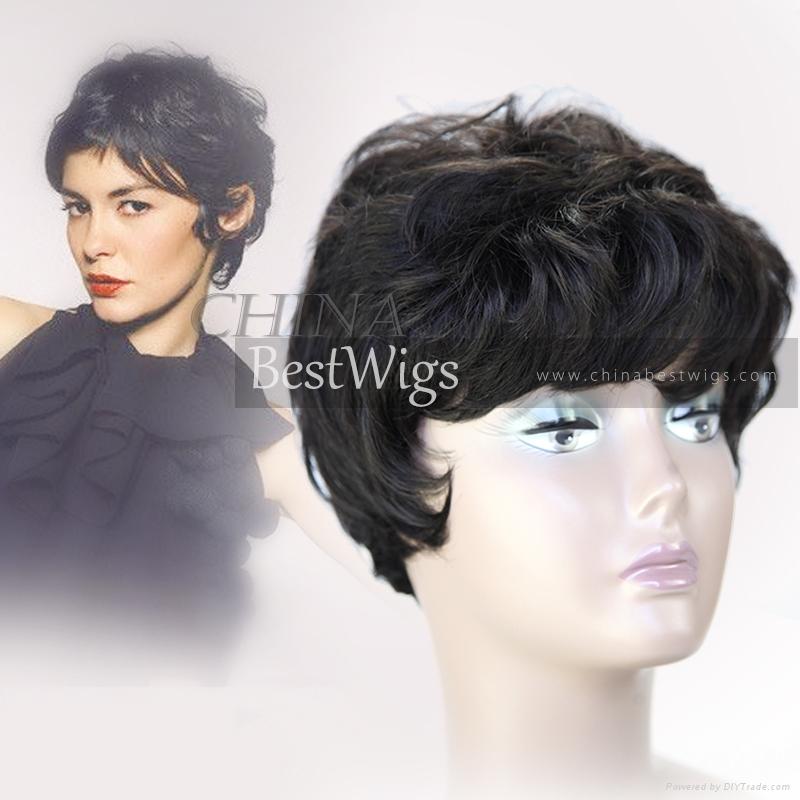 short cut all machine made wig 1